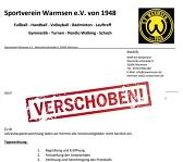 Absage JHV 2021©SV Warmsen