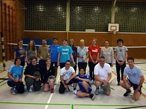 Badminton in Aktion