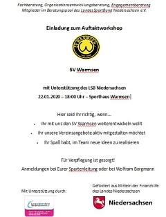 Einladung Auftaktworkshop©SV Warmsen