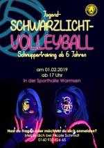 Jugend-Schwarzlicht-Volleyball